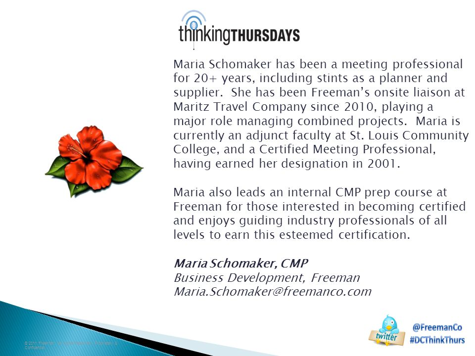 Maria Schomaker has been a meeting professional for 20+ years, including stints as a planner and supplier.