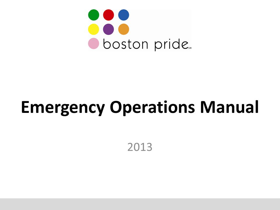 Emergency Operations Manual 2013