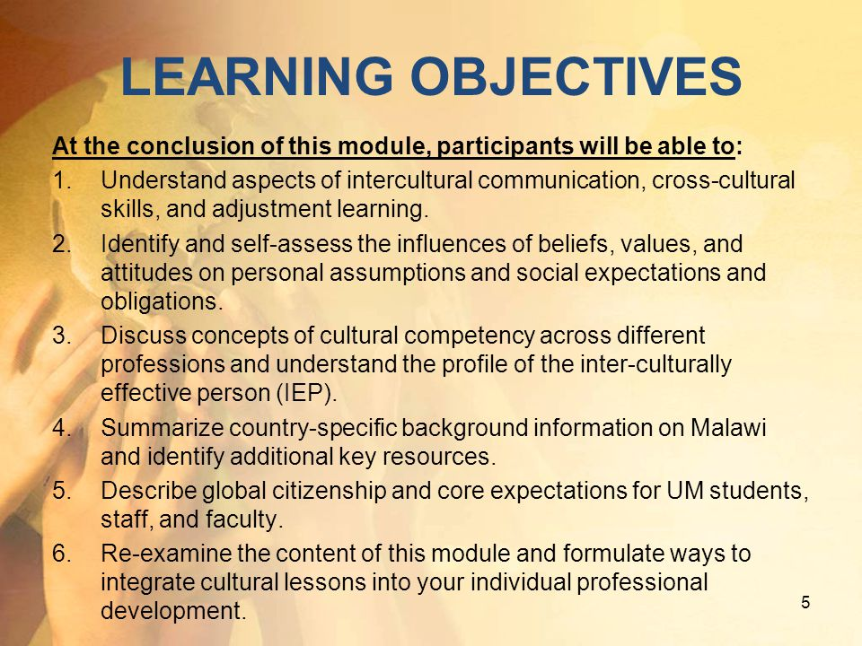 I. What s Up With Culture? II. Cultural Competency III. Malawi: Global & Local Aspects 36