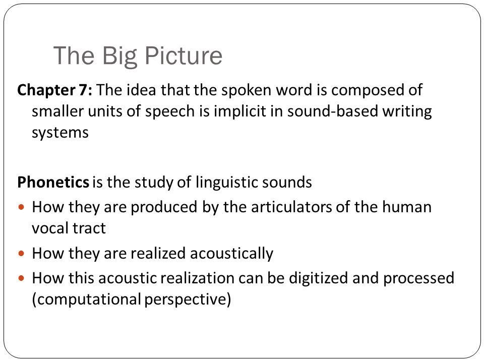 Outline Acoustic Phonetics and Signals Prosodic Analysis