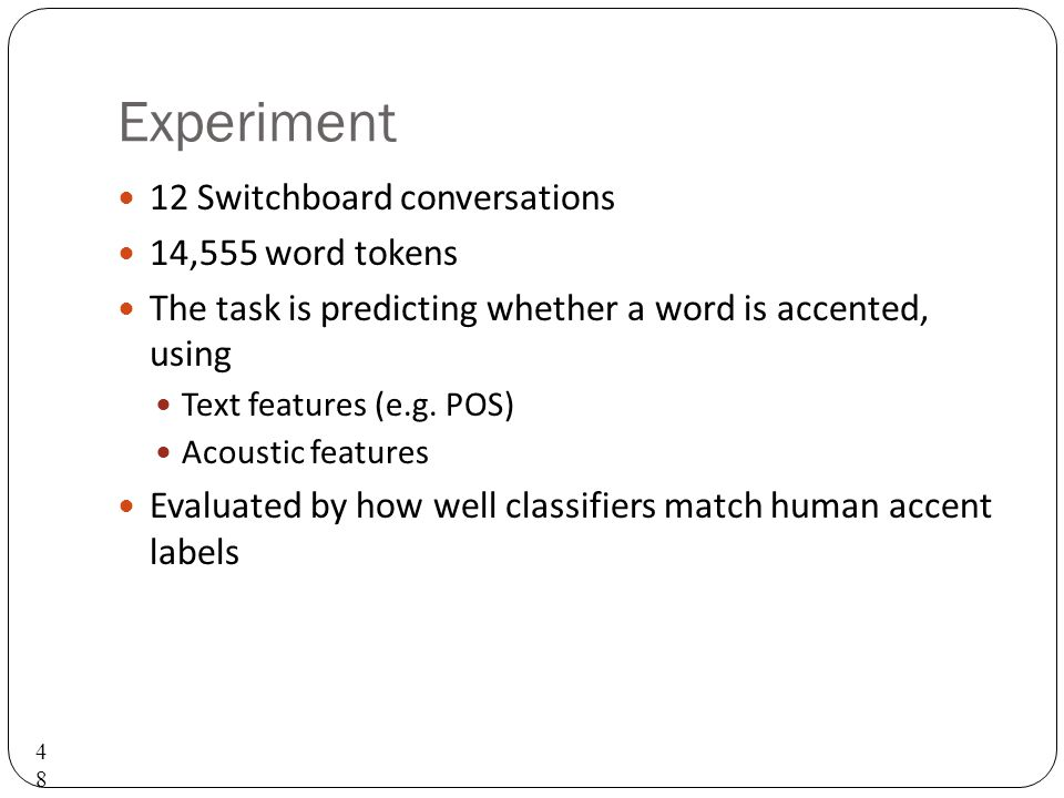 What about pitch accent detection from speech and text.