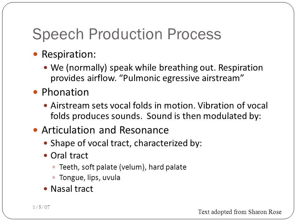 Spectrogram: spectrum + time dimension 1/5/07