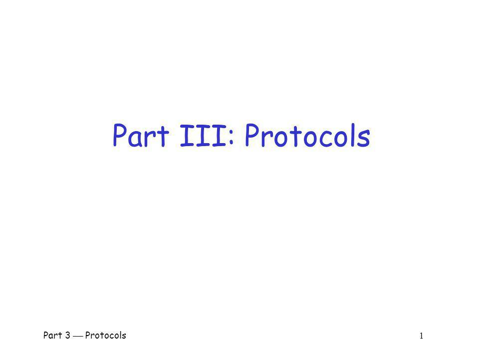 Part 3 Protocols 161 GSM Security Goals Primary design goals o Make GSM as secure as ordinary telephone o Prevent phone cloning Not designed to resist an active attacks o At the time this seemed infeasible o Today such an attacks are feasible… Designers considered biggest threats to be o Insecure billing o Corruption o Other low-tech attacks