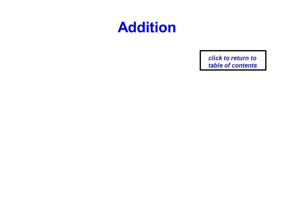 Addition click to return to table of contents