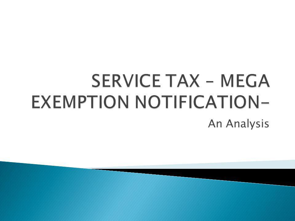 This entry in the notification exempts services provided to UNO or specified international organisation.