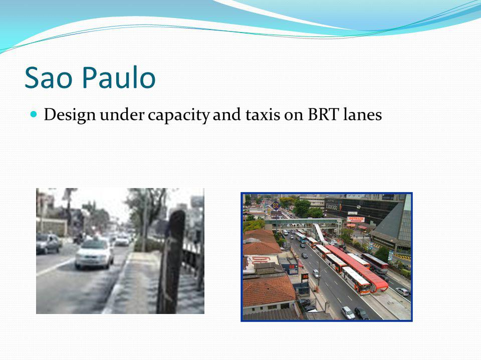 Sao Paulo Design under capacity and taxis on BRT lanes