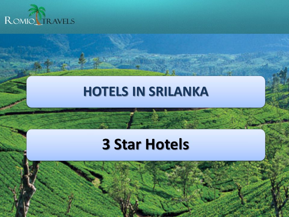 HOTELS IN SRILANKA 3 Star Hotels