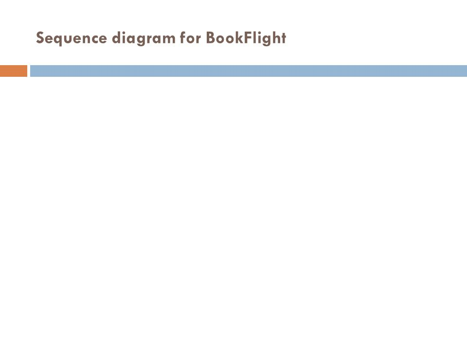 Sequence diagram for BookFlight