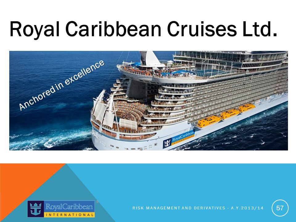 RISK MANAGEMENT AND DERIVATIVES - A.Y.2013/14 57 Royal Caribbean Cruises Ltd.