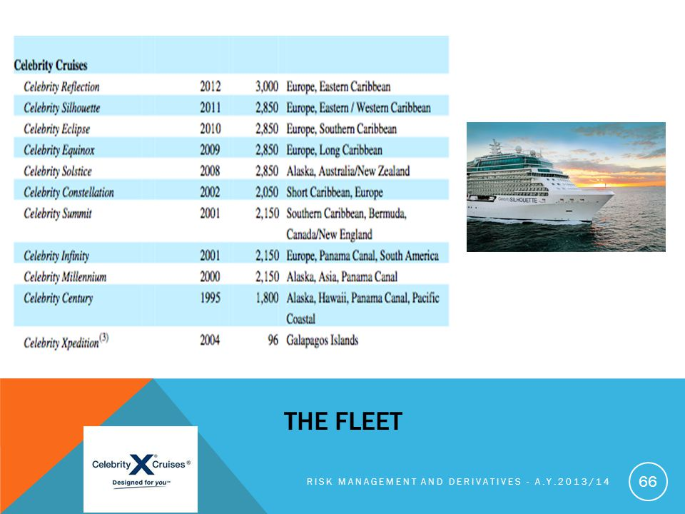 RISK MANAGEMENT AND DERIVATIVES - A.Y.2013/14 66 THE FLEET