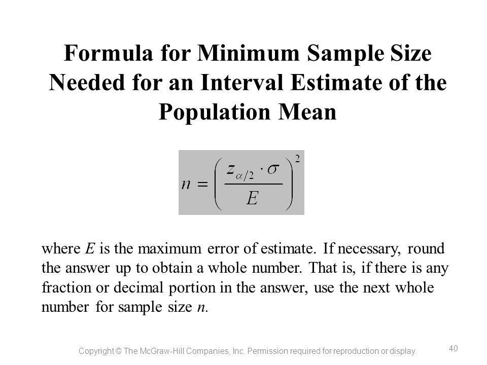 Sample Mean Equation - Jennarocca