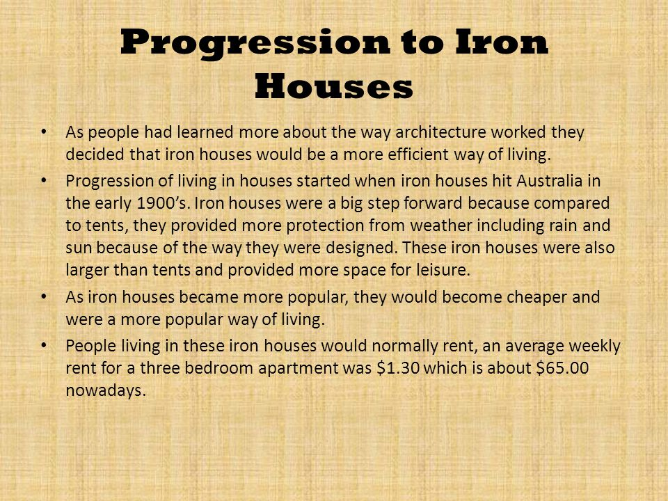Brick Houses Finally Arrive By the 1950s people had started to research a better way of living.