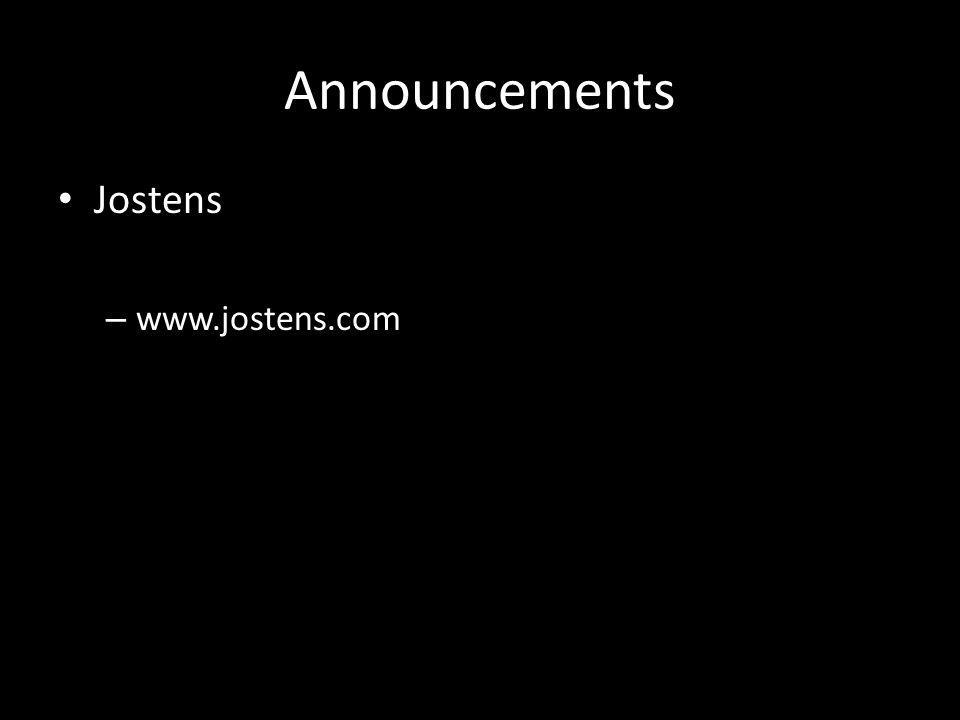 Announcements Jostens – www.jostens.com