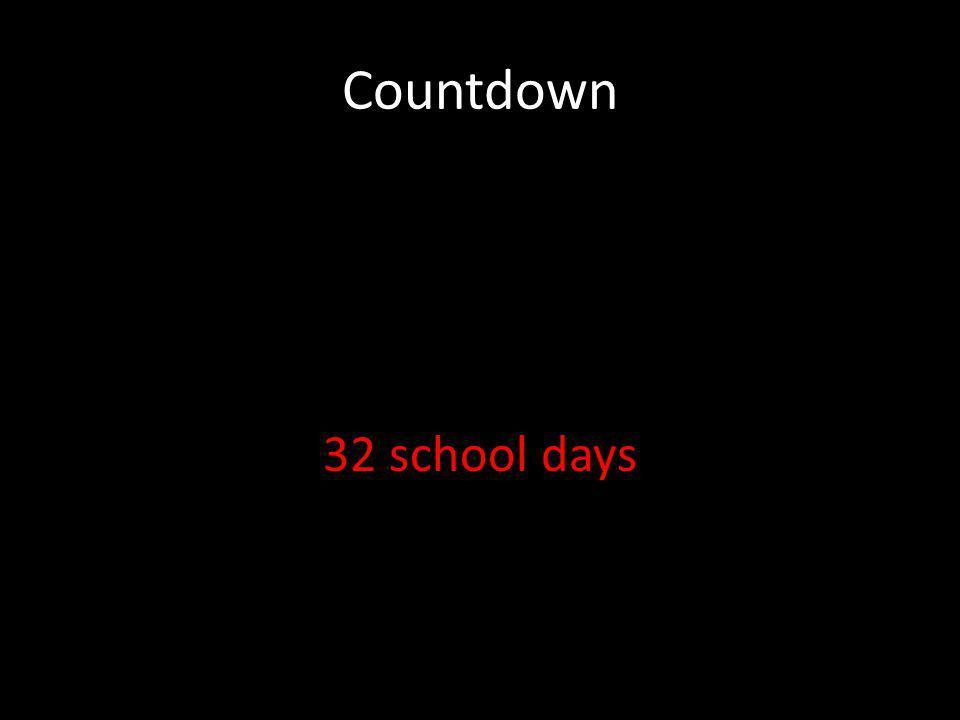 Countdown 32 school days