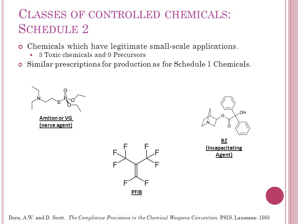 C LASSES OF CONTROLLED CHEMICALS : S CHEDULE 3 Chemicals which have large-scale industrial uses.