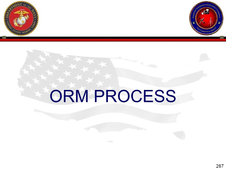 267 ENGINEER EQUIPMENT INSTRUCTION COMPANY ORM PROCESS Slide 267