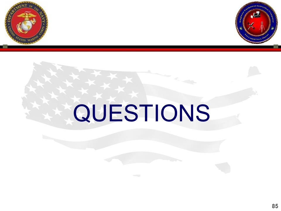 85 ENGINEER EQUIPMENT INSTRUCTION COMPANY QUESTIONS