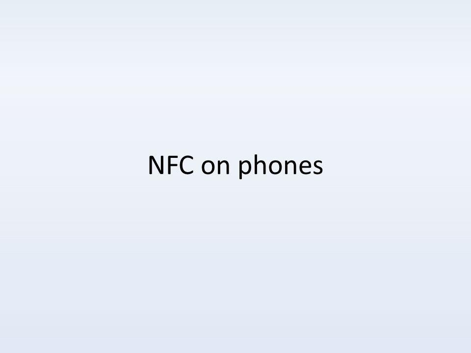NFC on phones