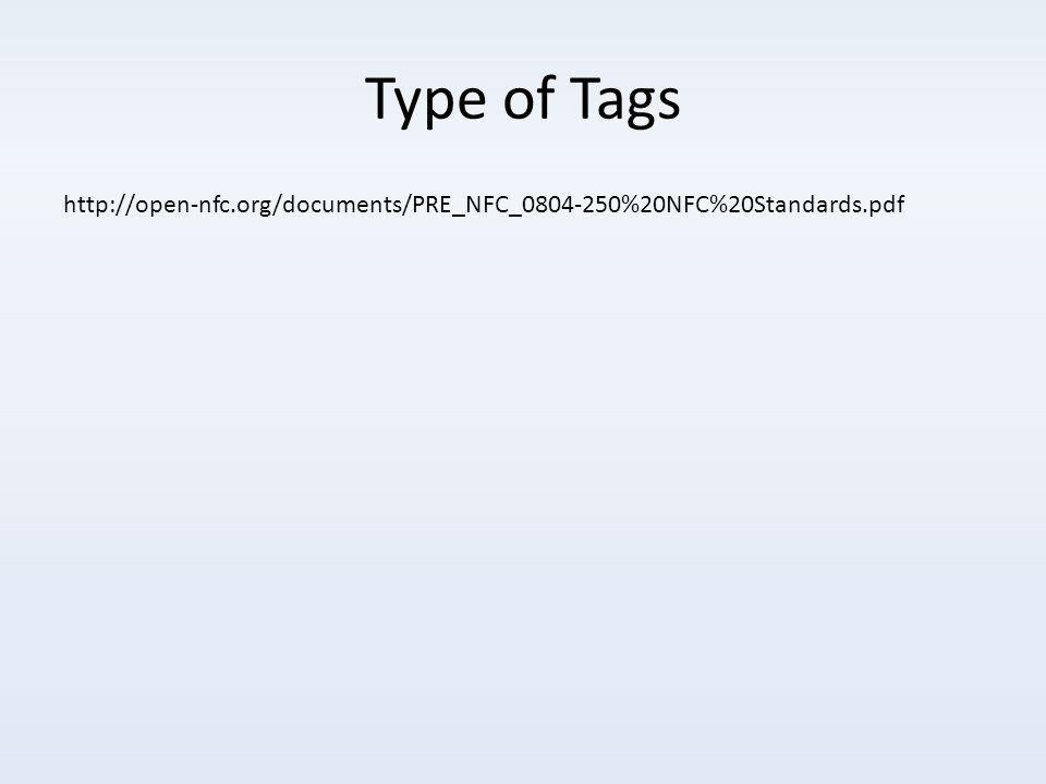 Type of Tags