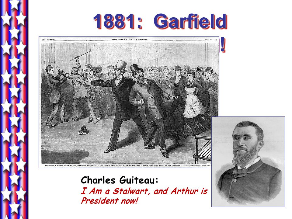 Republican infighting Stalwarts Republicans fighting for civil service reform during Garfield's term; they supported Cleveland. Half-breeds Favored ta