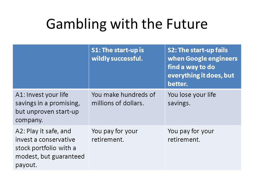 Gambling with the Future S1: The start-up is wildly successful.