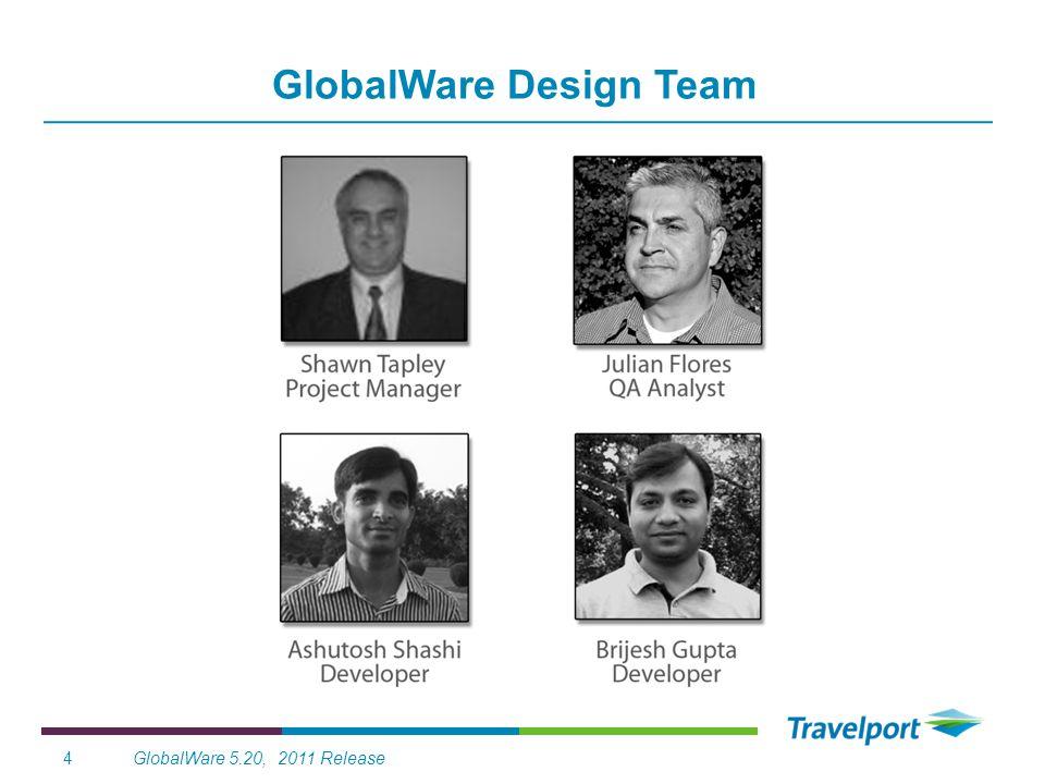 GlobalWare 5.20, 2011 Release4 GlobalWare Design Team