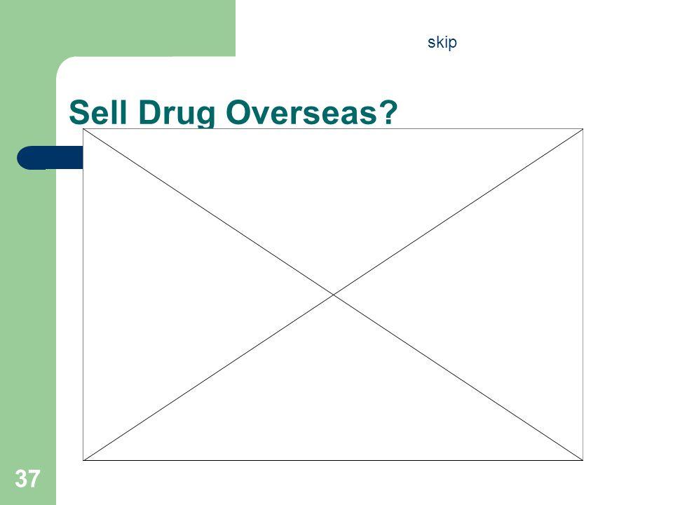 Sell Drug Overseas? 37 skip