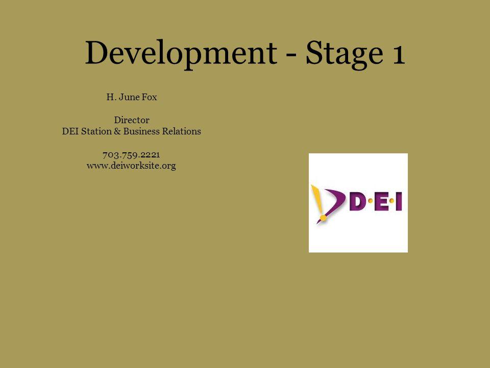 Development - Stage 1 H.