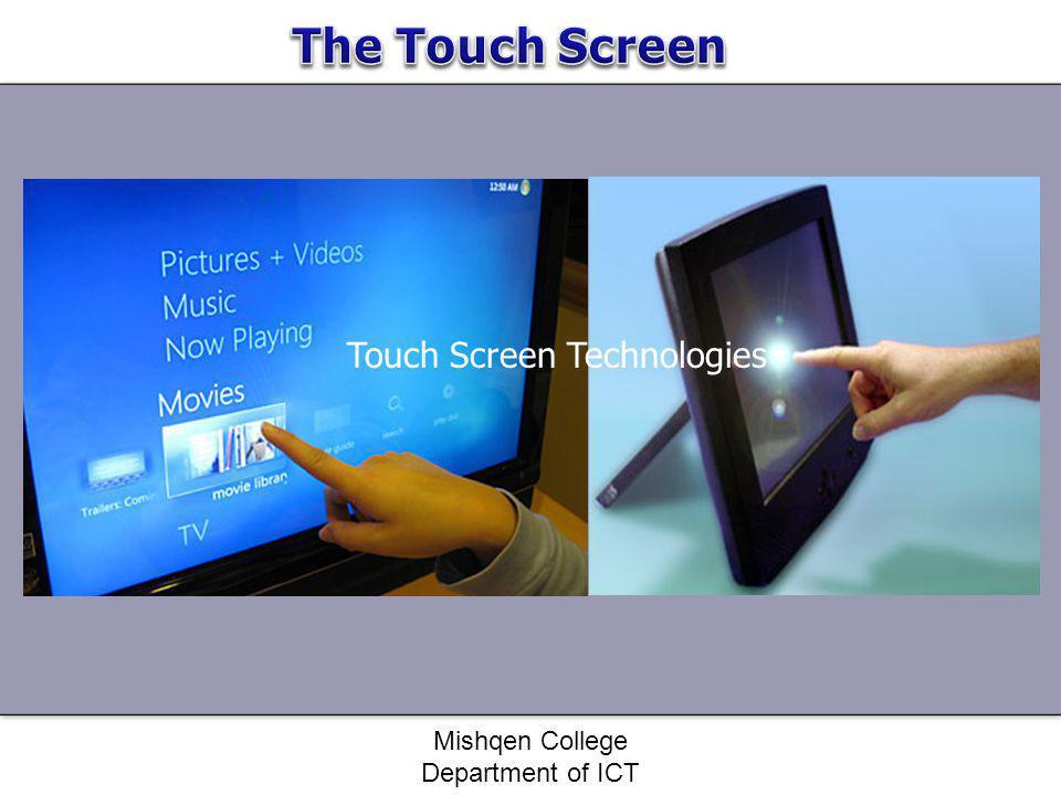 Touch Screen Technologies