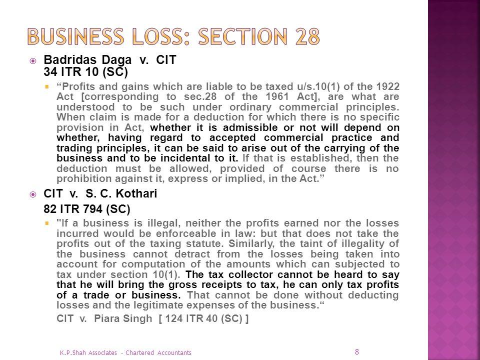 CIT v.Orissa Corporation Pvt. Ltd.
