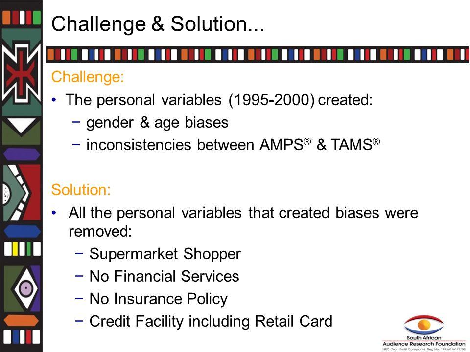 Challenge & Solution...