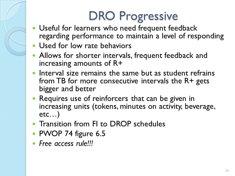 DRO Increasing Interval Schedule (4) Jack was doing really well on his DRO FI- 30min schedule. He currently has 5 30 minute intervals in a row where h
