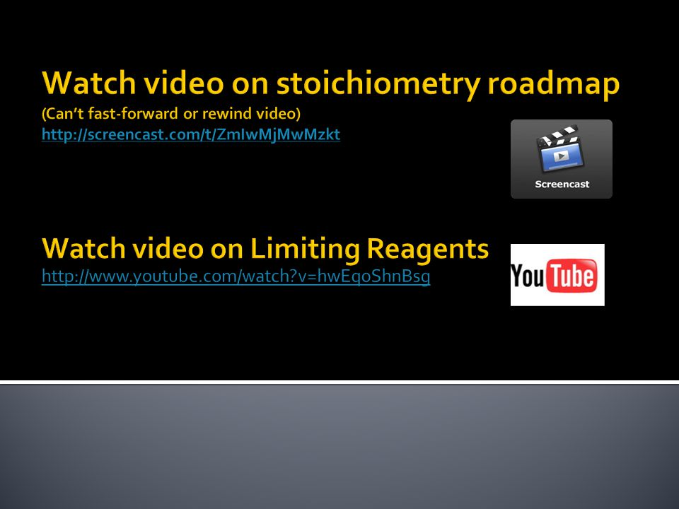 Stoichiometry Concept Summary The limiting reactant is consumed completely in a reaction.