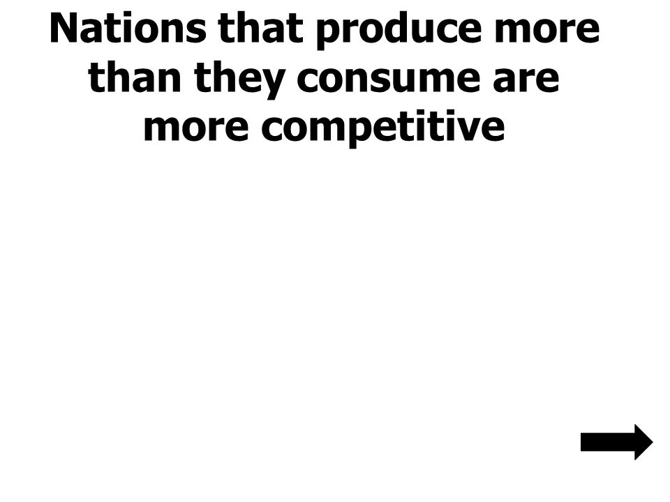 Nations that produce more than they consume are more competitive
