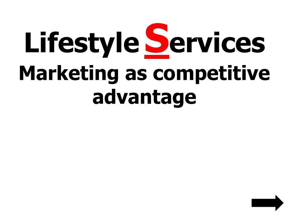 Lifestyle S ervices Marketing as competitive advantage