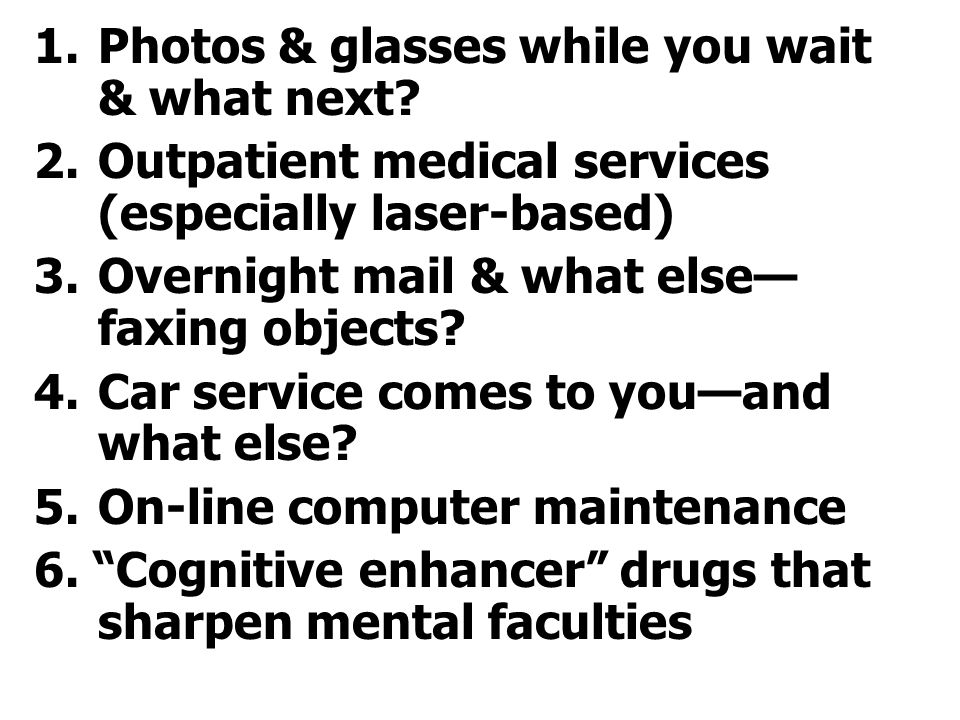 1.Photos & glasses while you wait & what next.