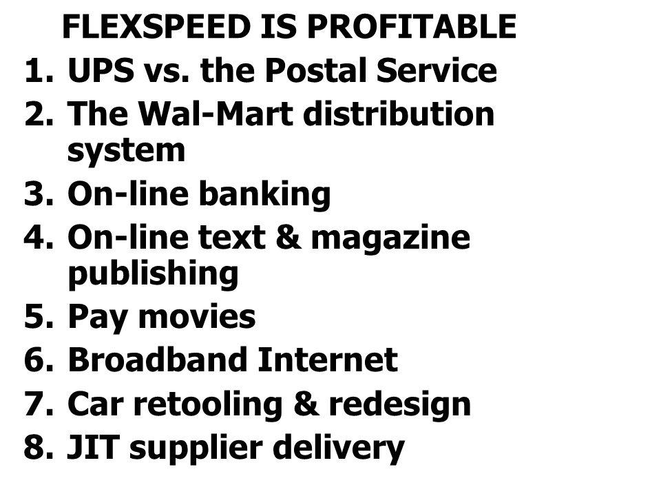 FLEXSPEED IS PROFITABLE 1.UPS vs.