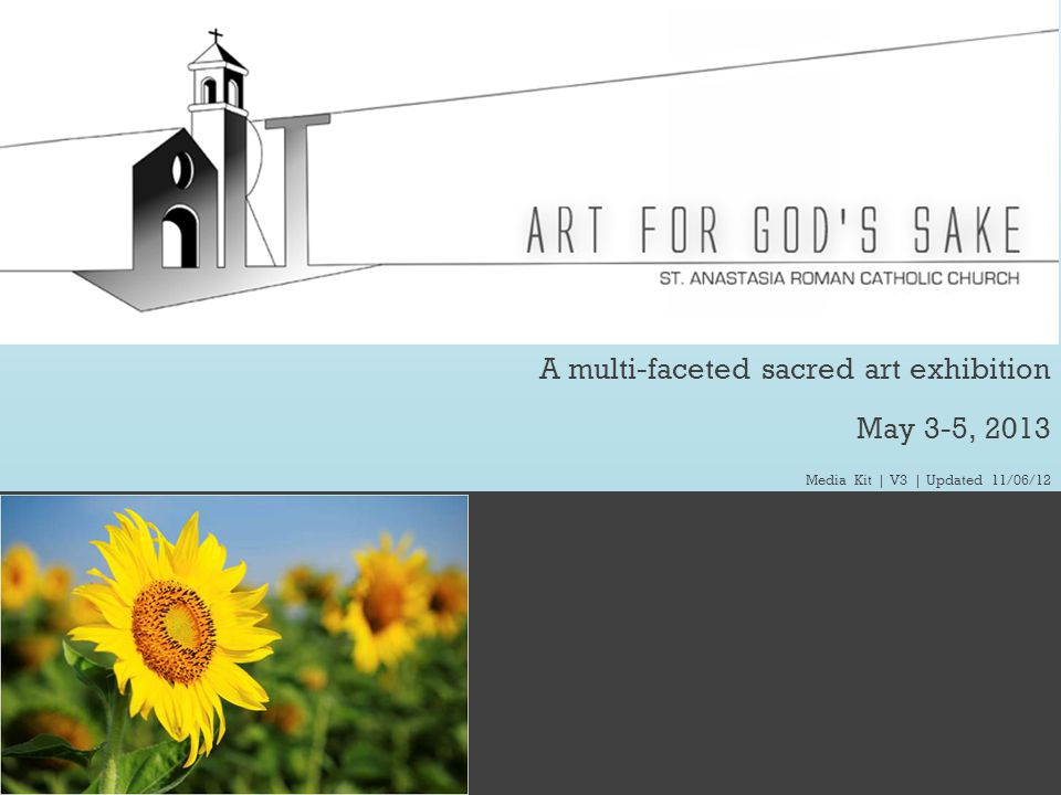52 To Quick Links >> www.ArtFGS.com | ArtForGodsSake@gmail.com | P: 248.906.2347 Schedule| Saturday Daytime | May 4, 2013