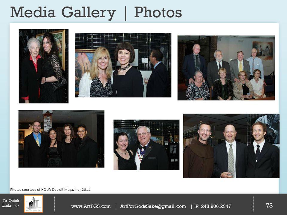 Media Gallery | Photos 73 To Quick Links >> www.ArtFGS.com | ArtForGodsSake@gmail.com | P: 248.906.2347 Photos courtesy of HOUR Detroit Magazine, 2011