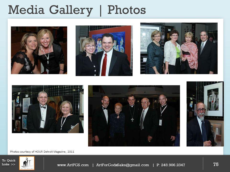 Media Gallery | Photos 75 To Quick Links >> www.ArtFGS.com | ArtForGodsSake@gmail.com | P: 248.906.2347 Photos courtesy of HOUR Detroit Magazine, 2011