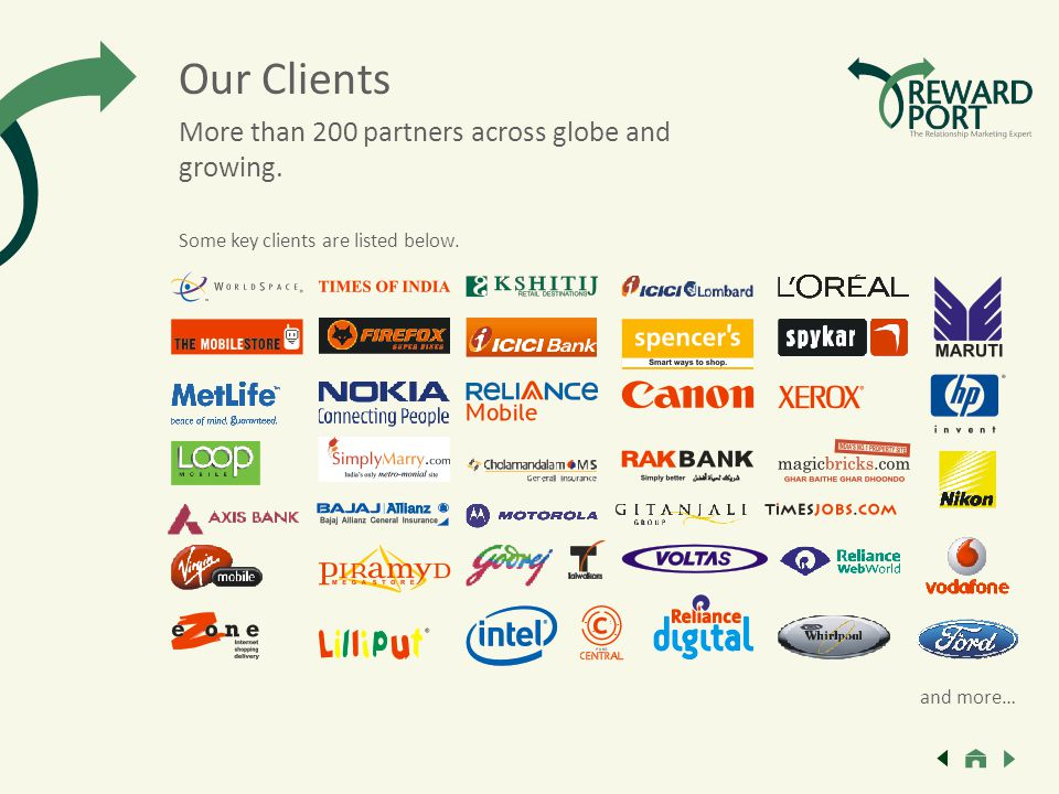 More than 200 partners across globe and growing. Some key clients are listed below.