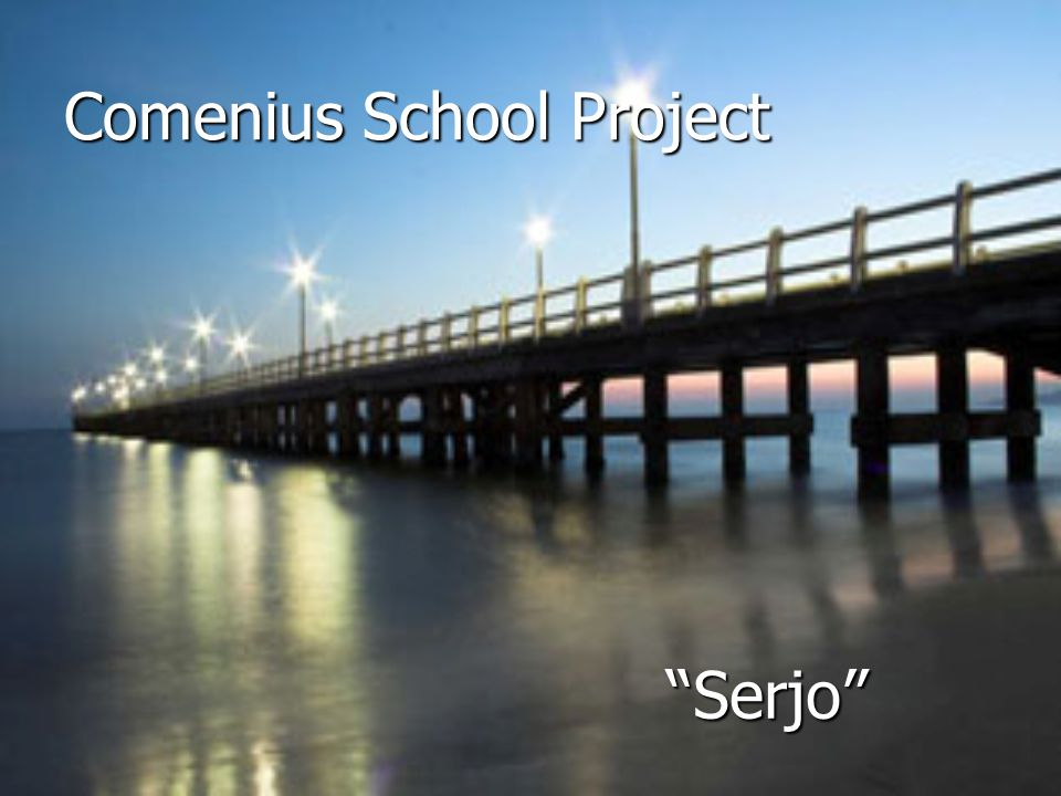 Comenius School Project Serjo