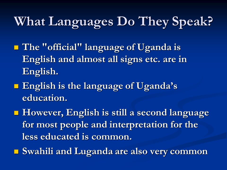 What Languages Do They Speak.