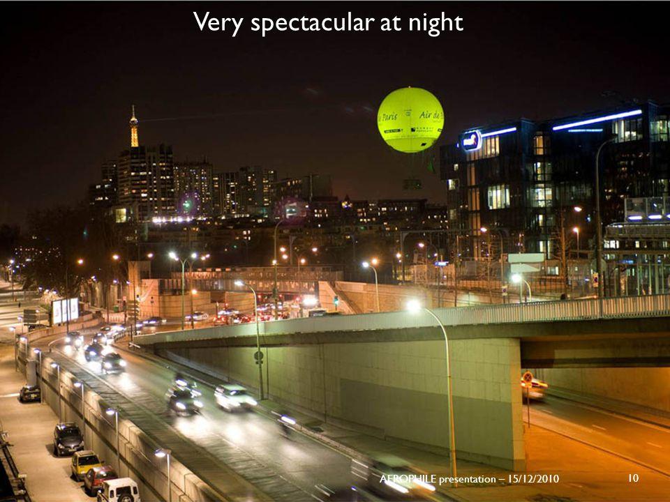 Very spectacular at night 10 AEROPHILE presentation – 15/12/2010