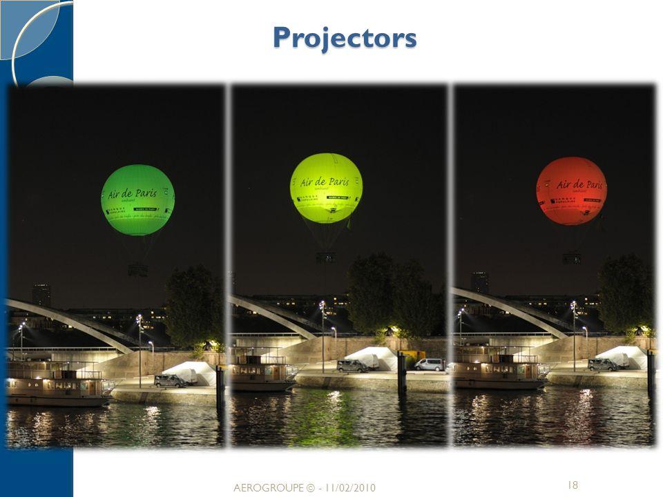 Projectors 18 AEROGROUPE © - 11/02/2010