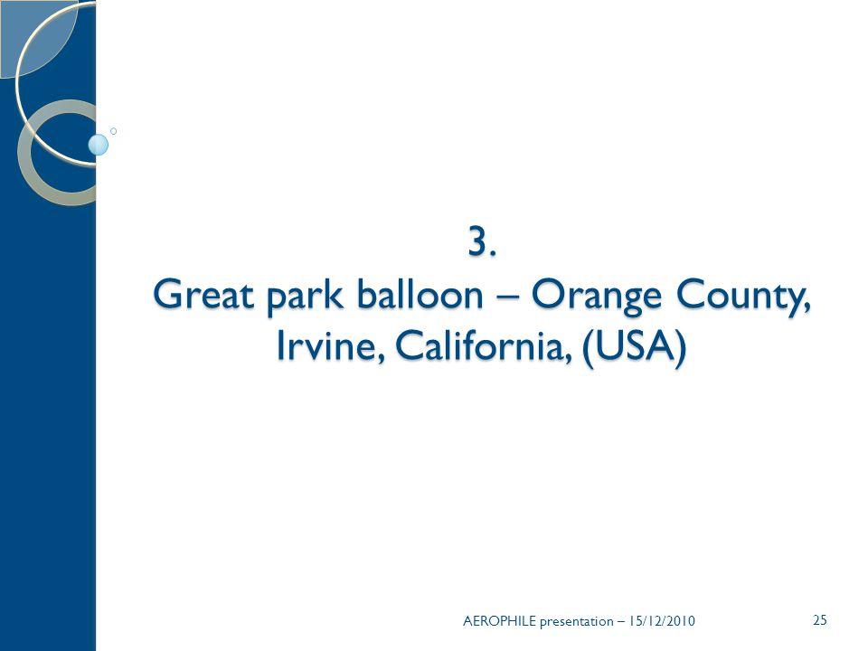 25 3. Great park balloon – Orange County, Irvine, California, (USA)