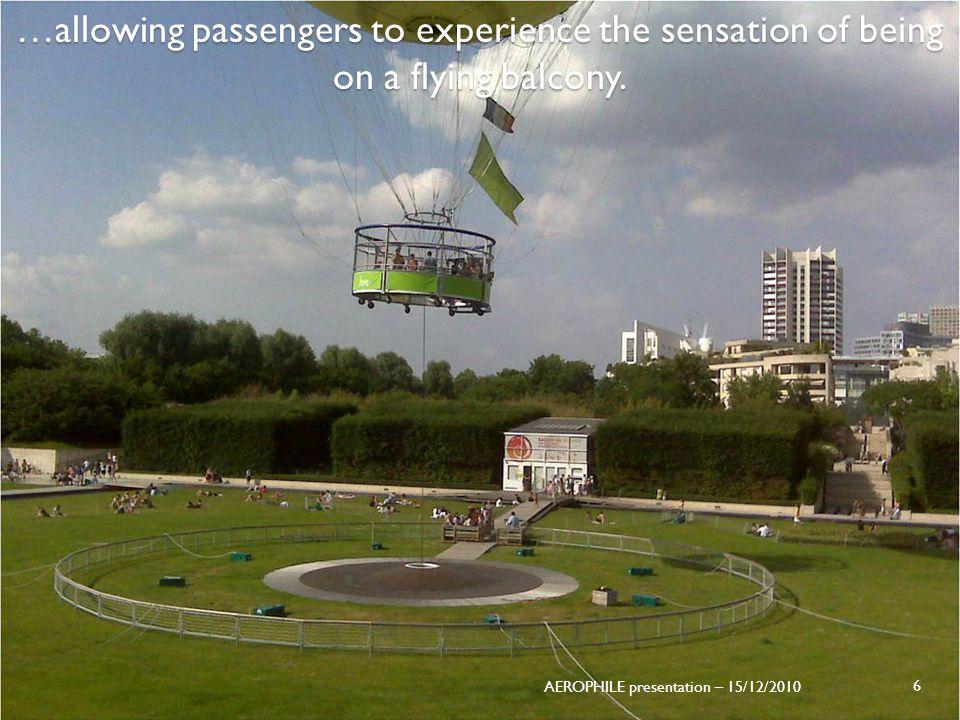 AEROPHILE presentation – 15/12/2010 27 4.