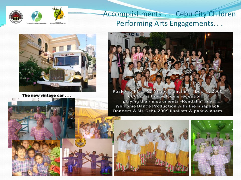 Accomplishments... Cebu City Children Performing Arts Engagements...