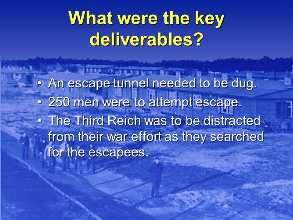 What were the key deliverables.