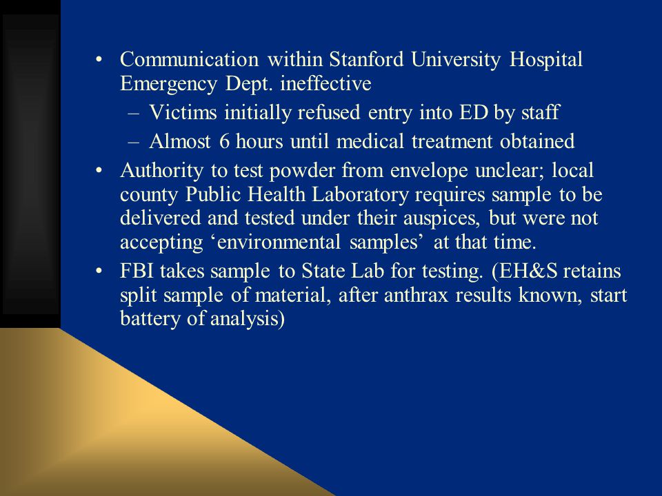 Communication within Stanford University Hospital Emergency Dept.